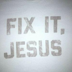 Fix It, Jesus Men's Size 3XL Light Blue T-shirt